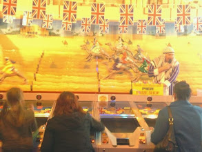Photo: The guy at the camel racing taking to wearing a tea towel & apron..
