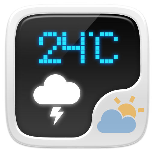 Digital Weather Widget Theme