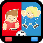 2 Player Sports Games - Soccer, Sumo, Paintball Icon