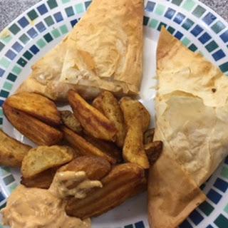 Chicken and Chorizo Filo Parcels.