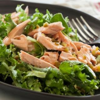 Avocado Salmon Salad with Kale.
