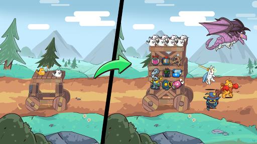 Cat'n'Robot: Idle Defense - Cute Castle TD PVP screenshots 9