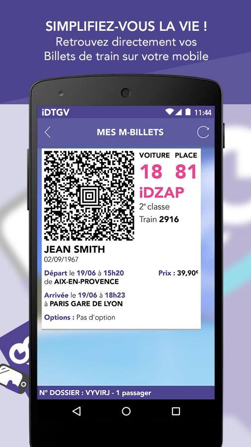iDTGV : Billets de Train- screenshot