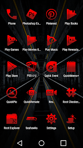 Tap Red - Icon Pack screenshot 4