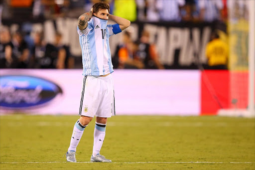 c3c602efb Lionel Messi of Argentina looks on before the game winning penalty kick is  made during the