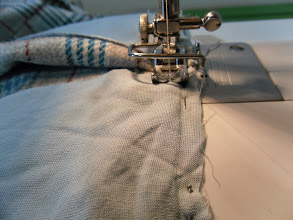 Photo: sewing the pocket