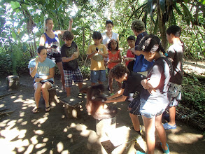 Photo: Costa Rican school group on our tour of the wildlife refuge across the gulf from Puerto Jimenez