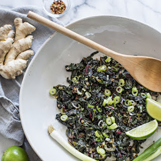 Thai-Style Sauteed Greens with Coconut Milk