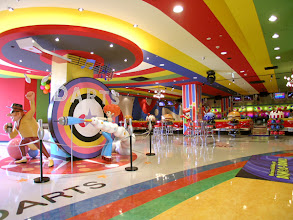 Photo: interior decoration & character design of bowling alley in Sapporo