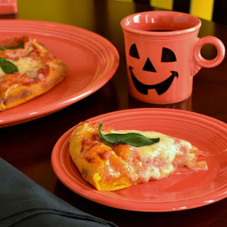 PUMPKIN CRUST PIZZA with THREE CHEESES & FRESH SAGE