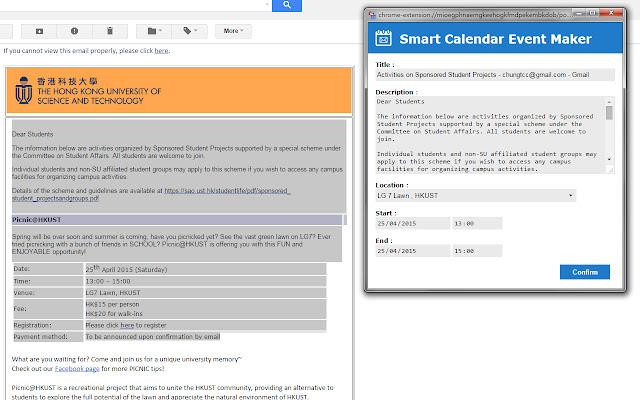 Smart Calendar Event Maker