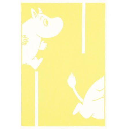 Ekelund Barnfilt Moomin Goes Yellow