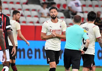 Olivier Giroud déjà buteur avec l'AC Milan