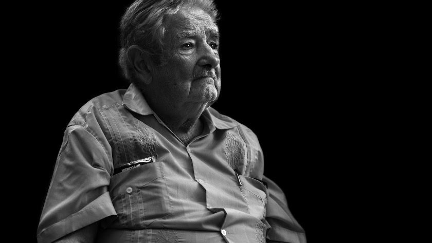 Pepe  Mújica, ex presidente de Uruguay, retratado por el artista almeriense.