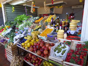 Photo: They had a small open air market right outside the Kotor city walls.