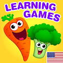 Funny Food educational games for kids toddlers icon