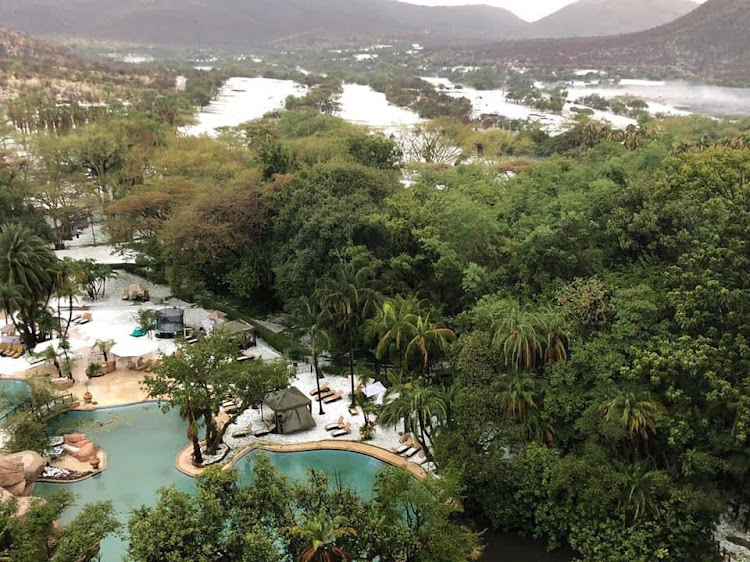 A massive hailstorm hit Sun City on Saturday December 15 2018 but the resort is open for business and welcoming new day and overnight visitors.