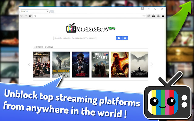 MediaTab.TV Streaming Search - Live TV Shows chrome extension