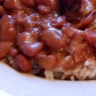 Authentic New Orleans Red Beans and Rice.