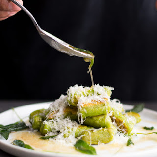 Spinach Gnocchi with Ricotta and Brown Butter Sage.