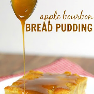 Apple Bread Pudding with Bourbon Caramel Sauce