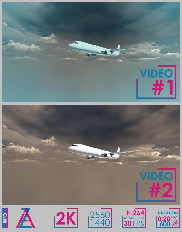 Aircraft Flight Along The Horizon - 1
