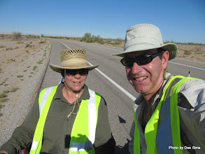 Photo: (Year 3) Day 37 - Looking a Tad Warm, the Two Explorers