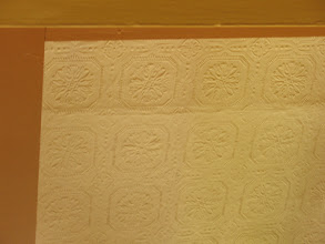 Photo: Day 6: Another picture of what might be original wallpaper at the Kangaroo House B&B.