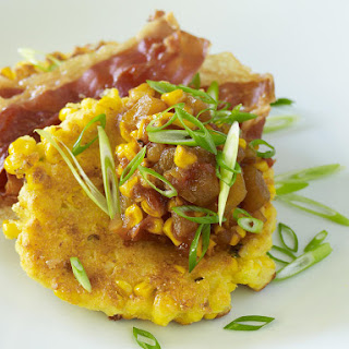 Corn Cakes with Corn and Tomato Chutney