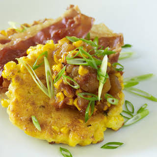 Corn Cakes with Corn and Tomato Chutney.