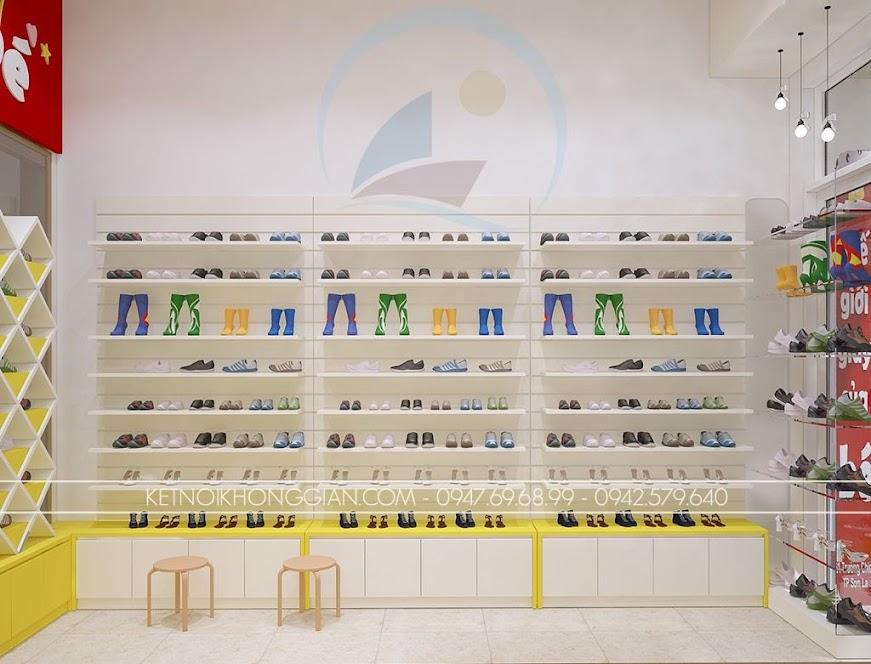 thiết kế shop giày dép trẻ em sáng tạo
