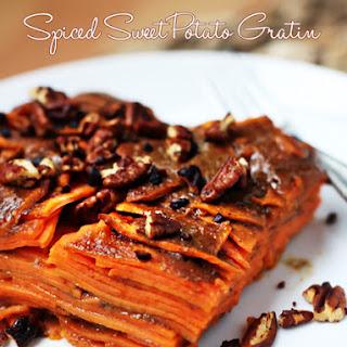 Spiced Sweet Potato Gratin.