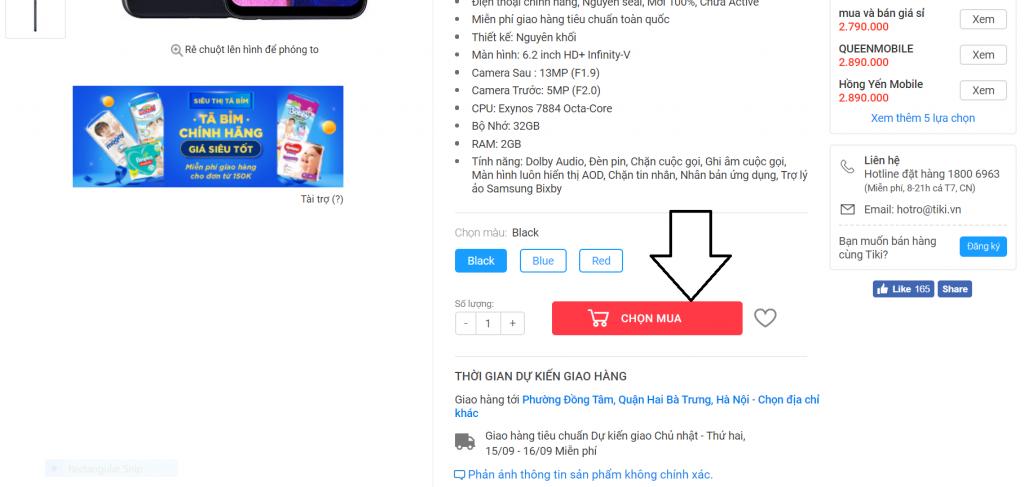 cách sử dụng mã giảm giá tiki
