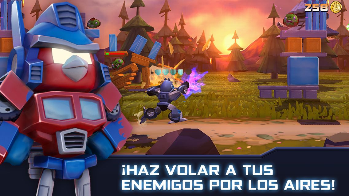 Angry Birds Transformers: captura de pantalla