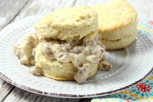 """Buttermilk Biscuits n Sausage Gravy """"While you can just make biscuits from..."""