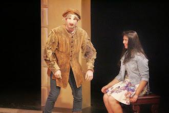 Photo: Launcelot and Devil,Merchant of Venice, Shakespeare Center Los Angeles. Photo, Michael Lamont.