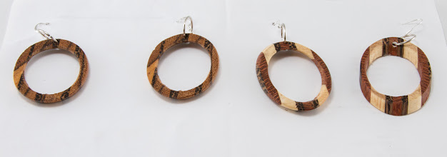 "Photo: Elliot Schantz 1/2"" x 2"" earrings [various scraps]"