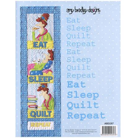 Eat Sleep Quilt Repeat Mönster (13122)
