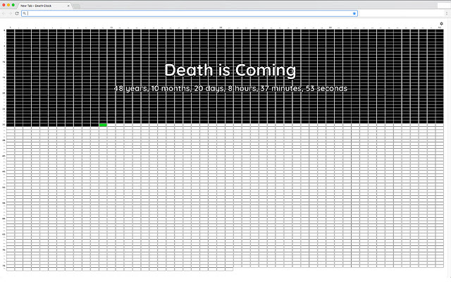 Death Clock Calendar