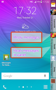 Messages for Note Edge Screenshot
