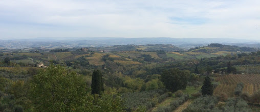 Photo: The view from San Gimignano