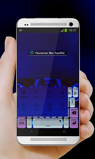 無料个人化Appの蛍光ブルー TouchPal テーマ 記事Game