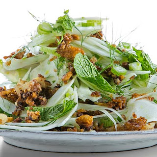 Fennel Salad with Bread Crumbs, Walnuts and Anchovy Vinaigrette