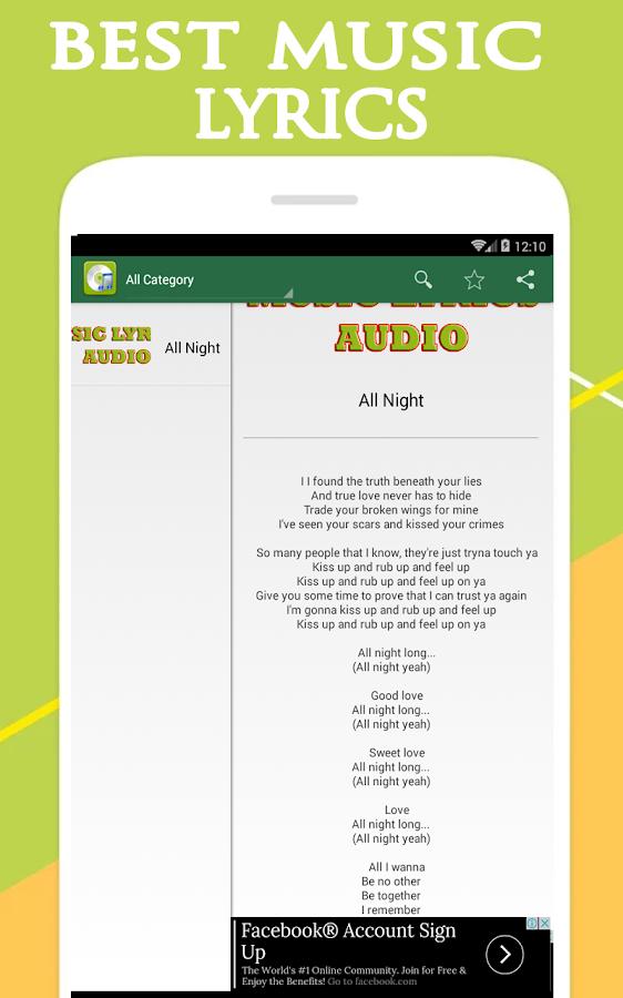 beyonce - all night lyrics - Android Apps on Google Play