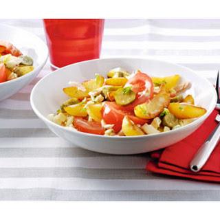 Salade Met Gebakken Aardappels, Venkelknol En Gerookte Kip