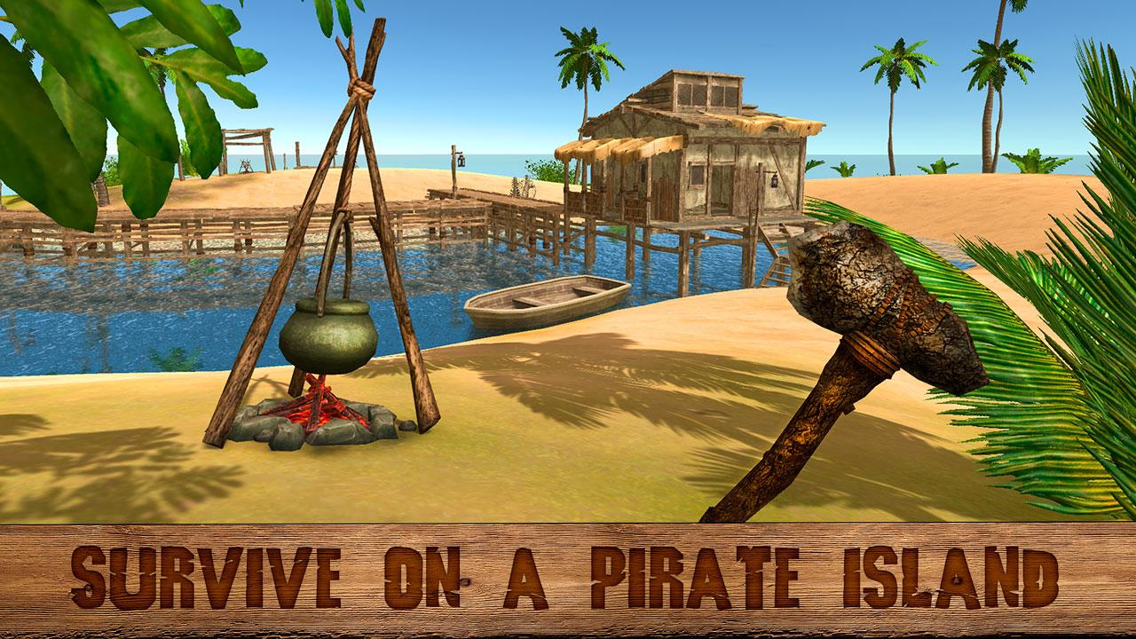 Pirate island survival 3d android apps on google play for Survival fishing games
