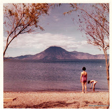 Photo: Marilyn and Chris on the shores of Lake Atitlan.