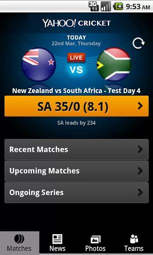 Yahoo Cricket screenshot 1