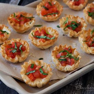 Margherita Pizza Phyllo Bites.
