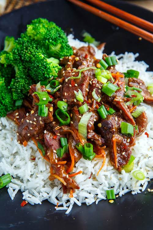"""Slow Cooker Mongolian Beef""""For busy days I like to keep some super..."""